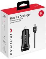 Автомобильное зарядное устройство Prime Line 1A кабель micro USB черное (2222)