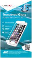Защитное стекло для iPhone X Onext 3D, изогнутое по форме дисплея, с белой рамкой