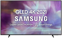 Телевизор Samsung 55 UHD, QLED, Smart TV, Звук (20 Вт (2x10 Вт) 3xHDMI, 2xUSB, 1xRJ-45, QE55Q60AAUXRU