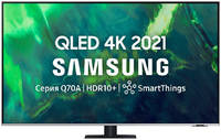 Телевизор Samsung 55 UHD, QLED, Smart TV, Звук (20 Вт (2x10 Вт) 4xHDMI, 2xUSB, 1xRJ-45, QE55Q70AAUXRU