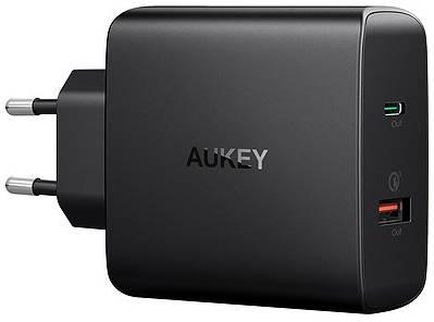 Сетевая зарядка Aukey Wall Charger PD/QC 3.0 USB-A/C