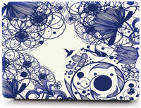 Чехол Накладка i-Blason Cover для MacBook Air 13 (Blue Line Flowers)