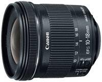 Объектив Canon EF-S 10-18mm f / 4.5-5.6 IS STM черный