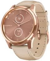 Умные часы Garmin Vivomove Luxe с кожаным ремешком, песочный