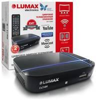 LUMAX DV1115HD Цифровой ТВ приёмник TV-тюнер ресивер приставка цифрового эфирного телевидения DVB-T2 без абонплаты доступ к «Кинозал LUMAX», IPTV, Megogo, YouTube, система MeeCast, HD HDMI, звук AC3, поддержка USB Wi-Fi/3G/ 4G адаптеров