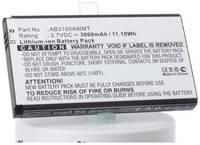 Аккумулятор iBatt iB-B1-M2552 3000mAh для Philips AB3100AWMT, AB3100AWMC