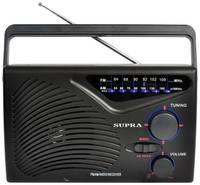 Ретро радиоприемник SUPRA ST-16 с телескопической антенной, работа от сети и батареек, AM/FM