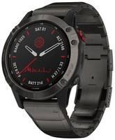 Умные часы Garmin Fenix 6 Pro Solar DLC с титановым ремешком