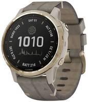 Умные часы Garmin Fenix 6S Pro Solar с замшевым ремешком,