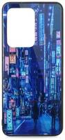 Чехол-накладка Pastila Force print glass для Samsung Galaxy S11+ city