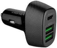 Автомобильное зарядное устройство Dorten 3-Port USB 42W Car Quick Charger 2*QC3.0+PD3.0 и AFC (Samsung), FCP (Huawei)