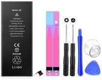 Аккумулятор ультра повышенной емкости для iPhone SE (2010mAh) Wewo + набор инструментов для замены
