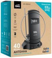 Антенна GAL AR-488AW активная для приема сигналов цифрового ТВ DVB-T/T2 со встроенными часами