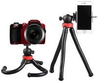 Life Style Штатив с гибкими ножками для телефона, смартфона, фото и экшн камеры / Штатив для крепления кольцевых ламп и фотовспышек / Держатель для фото и видео съемки, для смартфонов Apple iPhone, Samsung, Huawei, Xiaomi, Экшн камеры GoPro, камеры Canon,