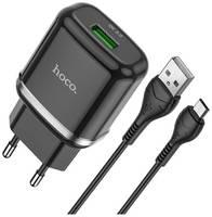 Сетевая зарядка Hoco N3 Vigour + кабель micro-USB