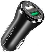 АЗУ USB 2.4A 2 порта USAMS US-CC028 QC3.0 Быстрый заряд