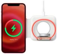 Life Style Беспроводная зарядная док станция 2 в 1 для Apple iPhone, Samsung, Xiaomi, Huawei и Honor / Зарядное устройство с функцией быстрой зарядки 15W (QC) для смарт-часов Apple Watch series 1-6, SE и AirPods 1, 2, Pro