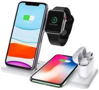 Life Style Беспроводная зарядная док станция 4 в 1 для Apple iPhone, Samsung, Huawei, Honor и Xiaomi / Зарядное устройство с функцией быстрой зарядки 15W (QC) для AirPods 1, 2, Pro и смарт-часов Apple Watch series 1-6, SE