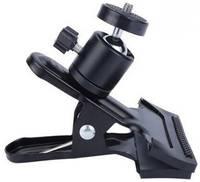 Универсальный настольный держатель с шарниром на прищепке 360 GSMIN BM-16 для телефона или планшета