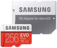 Карта памяти Samsung microSDXC EVO Plus UHS-I (U3) 256 GB, чтение: 100 MB/s, запись: 90 MB/s, адаптер на SD