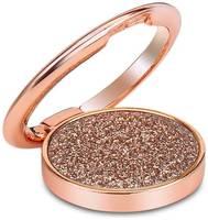 LuxCase Кольцо держатель для телефона / Блестки / 36 мм / Розовое