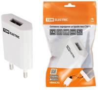 TDM ЕLECTRIC Сетевое зарядное устройство, СЗУ 1, 1 А, 1 USB, TDM