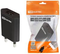 TDM ЕLECTRIC Сетевое зарядное устройство, СЗУ 2, 1 А, 1 USB, TDM