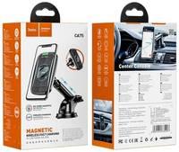 Автомобильный Магнитный держатель с беспроводной зарядкой Hoco CA75 Magnetic