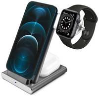 COTEetCI Беспроводная зарядка 3-в-1 COTEetA CS5700(WS20) Серая (iPhone+Apple Watch+AirPods)