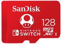 Карта памяти 128Gb - SanDisk MicroSDXC для Nintendo Switch SDSQXAO-128G-GNCZN