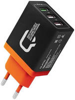 Зарядное устройство Qumo 2xUSB 2.1A + Quick Charge 3.0 Charger 0019
