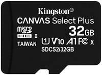 Карта памяти 32Gb - Kingston Micro Secure Digital HC Class10 UHS-I Canvas Select SDCS2/32GBSP