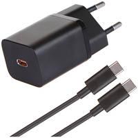 Зарядное устройство Baseus Super Si Quick Charger 1C 25W EU Sets + кабель Type-C 3A 1m TZCCSUP-L01