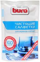 Салфетки влажные Buro 100шт BU-Zscreen
