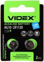Батарейка LR1130 - Videx AG10 2BL (2 штуки)