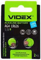 Батарейка LR626 - Videx AG4 2BL (2 штуки)