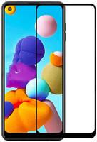 Защитное стекло Mietubl для Samsung Galaxy A21S 2.5D Full Glue Black M-835170