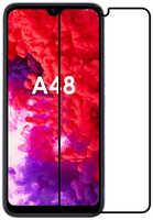 DF-GROUP Закаленное стекло DF для Itel A48 Full Screen + Full Glue Black Frame itColor-01