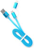 Аксессуар Gembird Cablexpert USB AM/microBM 5P to iPhone Lightning 1m Blue CC-mAPUSB2bl1m