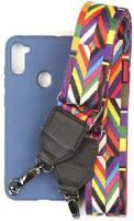 Чехол Ally для Samsung M115/A115 Galaxy M11/A11 А5 Soft Touch с ремешком A5-01116