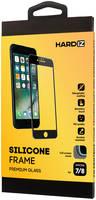 Стекло защитное Hardiz iPhone 8/7 Silicone Frame черная рамка