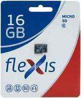 Карта памяти MicroSDHC FLEXIS 16Gb Class 6 без адаптера Black