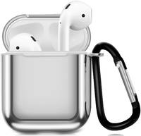 Чехол для наушников Eva Apple AirPods 1/2 с карабином - (CBAP07S)