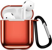 Чехол для наушников Eva Apple AirPods 1/2 с карабином - (CBAP07R)