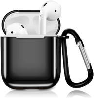 Чехол Eva для наушников Apple AirPods 1/2 с карабином - (CBAP07B)