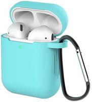 Чехол для наушников Eva для Apple AirPods 1/2 с карабином - (CBAP40TQ)