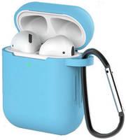 Чехол для наушников Eva для Apple AirPods 1/2 с карабином - (CBAP40BL)