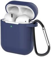Чехол для наушников Eva для Apple AirPods 1/2 с карабином - (CBAP40DBL)