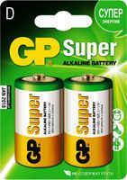 Батарейка GP Super Alkaline 13 A LR 20 D (2шт)