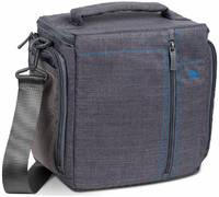 Сумка для фотокамеры Rivacase 7503 SLR Canvas Case Large и чехол от дождя из водооталкивающей ткани